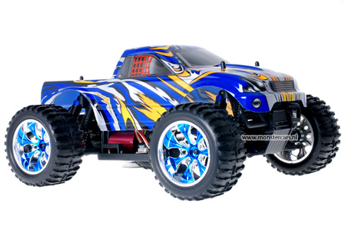 Himoto Brushless Truck Blue Beast 2.4GHz AANBIEDING!